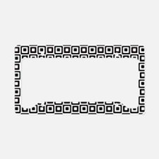 Black-n-White Squares License Plate Holder
