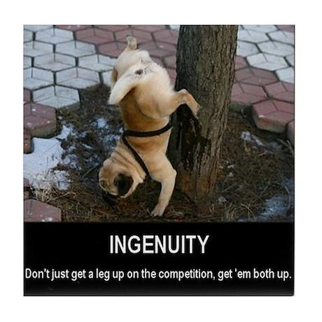Ingenuity Dog Motivational Tile Coaster