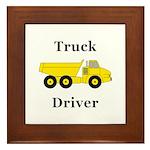 Truck Driver Framed Tile