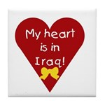 My Heart is in Iraq Tile Coaster