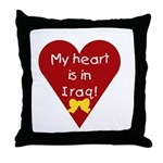 My Heart is in Iraq Throw Pillow