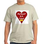 My Heart is in Iraq Ash Grey T-Shirt