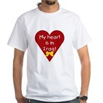 My Heart is in Iraq White T-Shirt