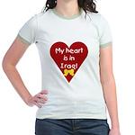 My Heart is in Iraq Jr. Ringer T-shirt