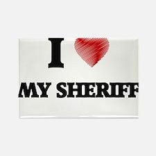 I Love My Sheriff Magnets