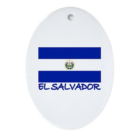 El Salvador Oval Ornament
