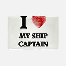 I Love My Ship Captain Magnets