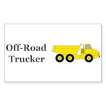 Off Road Trucker Sticker (Rectangle 50 pk)
