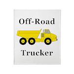 Off Road Trucker Throw Blanket