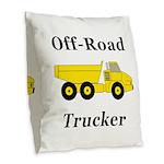 Off Road Trucker Burlap Throw Pillow