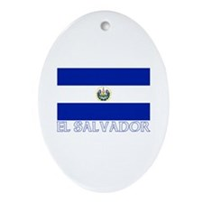 El Salvador Oval Ornament