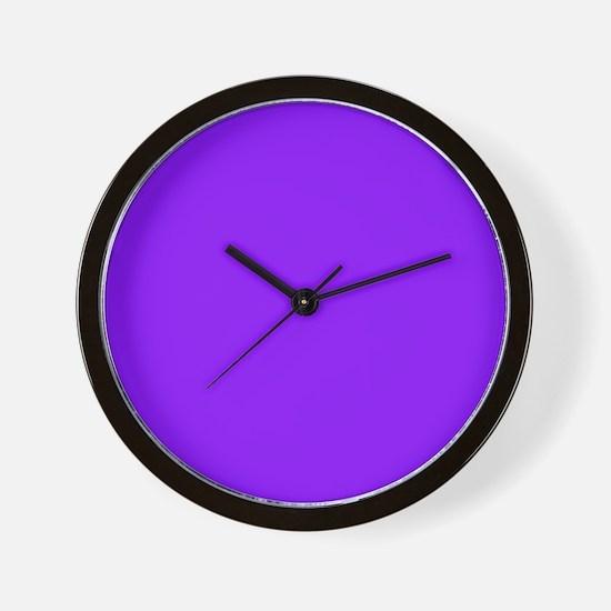 Neon Purple Solid Color Wall Clock