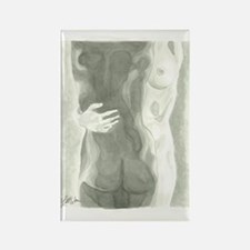 Nude Women Rectangle Magnet