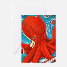 Octopus Painting Greeting Cards