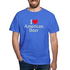 """I Love (Heart) American Beer"" T-Shirt"