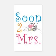 Soon 2 Bee Mrs. Rectangle Decal