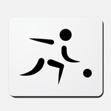 Bowling player icon Mousepad
