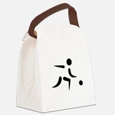 Bowling player icon Canvas Lunch Bag
