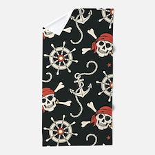 Pirate Skulls Beach Towel