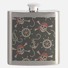 Pirate Skulls Flask