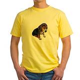 Beagle Mens Yellow T-shirts