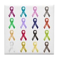 All Colors - Ribbons Tile Coaster
