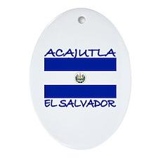 Acajutla, El Salvador Oval Ornament