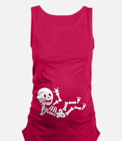 Pregnant Skeleton Sign Language Maternity Tank Top