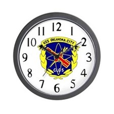 USS Oklahoma City (CLG 5) Wall Clock