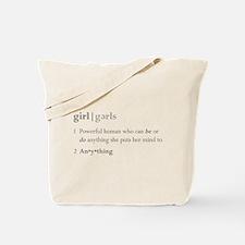 """Girls Defined"" Tote Bag"