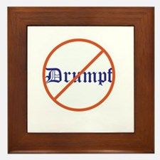 Anti Trump! No Drumpf Framed Tile