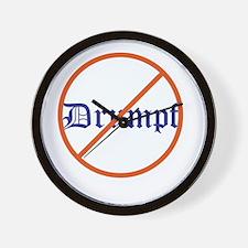 Anti Trump! No Drumpf Wall Clock