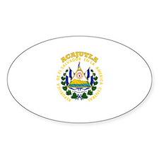 Acajutla, El Salvador Oval Decal