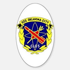USS Oklahoma City (CLG 5) Oval Decal