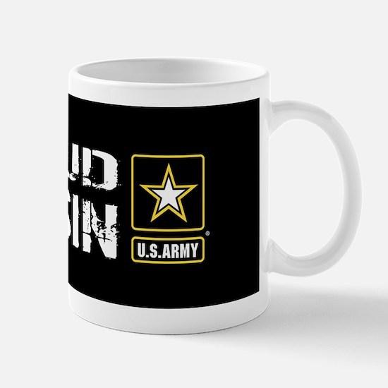 U.S. Army: Proud Cousin (Black) Mug