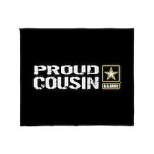 U.S. Army: Proud Cousin (Black) Throw Blanket