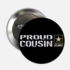 """U.S. Army: Proud Cousin (Bl 2.25"""" Button (10 pack)"""