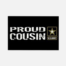 U.S. Army: Proud Cousin (Black) Rectangle Magnet