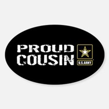 U.S. Army: Proud Cousin (Black) Decal