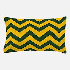 Chevron Pattern: Green & Yellow Zig Za Pillow Case