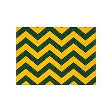 Chevron Pattern: Green & Yellow Zig 5'x7'Area Rug