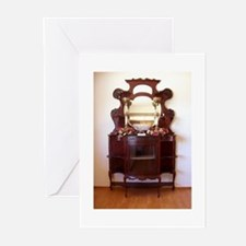 Antique Furniture~Etagere~LilyKo.com Greeting Card