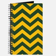 Chevron Pattern: Green & Yellow Zig Zags Journal