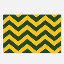 Chevron Pattern: Green & Postcards (Package of 8)