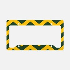 Chevron Pattern: Green & Yell License Plate Holder