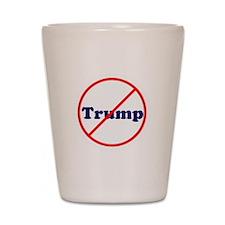 Anti Trump, Dump Drumpf, no Trump Shot Glass