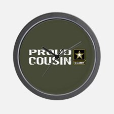 U.S. Army: Proud Cousin (Military Green Wall Clock