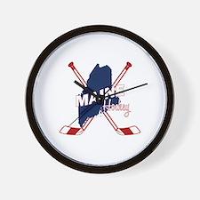 Maine Hockey Wall Clock