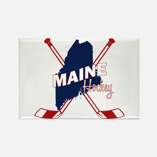 Maine Hockey Rectangle Magnet