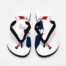 Maine Hockey Flip Flops